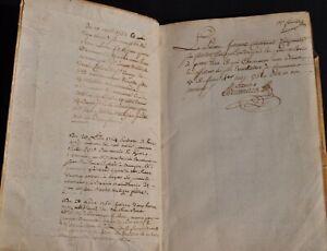Livre-manuscrit-de-Comptes-d-039-un-Gentilhomme-de-l-039-Anjou-du-XVIIIe-siecle