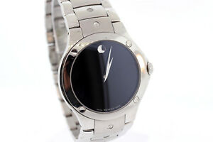 5fd450b618d Men s Movado 0605788 SPORTS EDITION SE Stainless Steel Black Dial ...