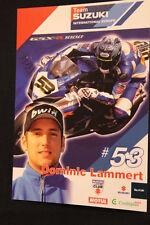 Card Suzuki GSX-R1000 2008 #53 Dominic Lammert (GER) IDM Superbike (HW)