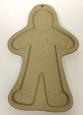 1997 Brown Bag Cookie Art Gingerbread Man Stoneware Mold Hill Design Christmas