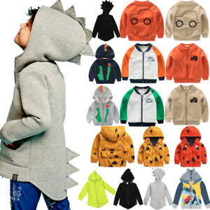 Toddler-Boys-Sweatshirt-Zipper-Windbreaker-Casual-Jacket-Coat-Outwear-Clothes