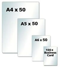 250 Texet A4 A5 A6 Credit / Business Card Laminator Laminating Pouches 150 Mcn