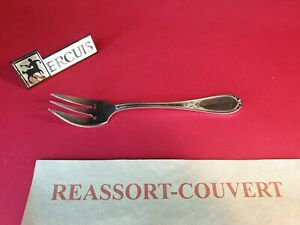 Fork-Cake-Ercuis-Laurel-14-5-cm-Very-Beautiful-Condition-Metal-Silver