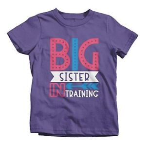 Pregnancy Announcement T-shirt Big Sister In Training Girls T-Shirt Sister Shirt Announcement Promoted To Big Sister Big Sister Shirt