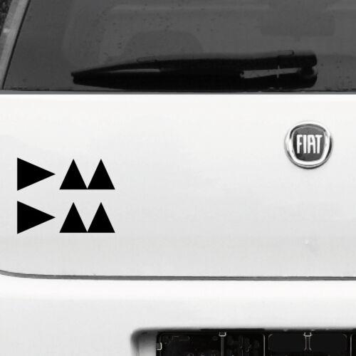 2 Autocollant Tatouage Noir 15 cm Delta Caractères Logo voiture deco Diapositive DEPECHE MODE