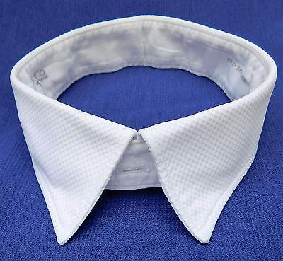 "Akco Marcella shirt collar size 16 1/2"" white vintage 1960s mens evening wear"