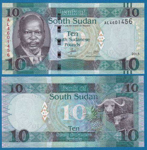 2016 UNC Low Shipping Combine FREE! South Sudan 10 Pounds P 12 2015