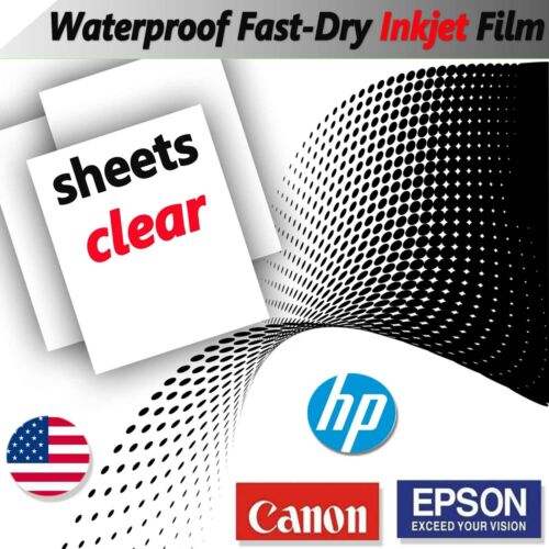 "11/""x 17/"",150 Sheets,Silk Screen Printing Waterproof Inkjet Transparency Film"