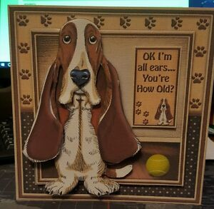 Basset Hound Birthday Card Hand Made - <span itemprop='availableAtOrFrom'>North Shields, United Kingdom</span> - Basset Hound Birthday Card Hand Made - North Shields, United Kingdom