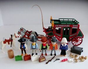 Playmobil western diligence 4399 & charges EXTRA'S