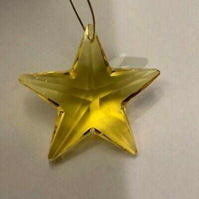 Swarovski Crystal Rosaline 28mm Star 8815 Suncatcher// Prism//Pendant; Logo Etched