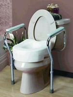 Toilet Seat Commode Safety Grab Bar Frame Adjustable
