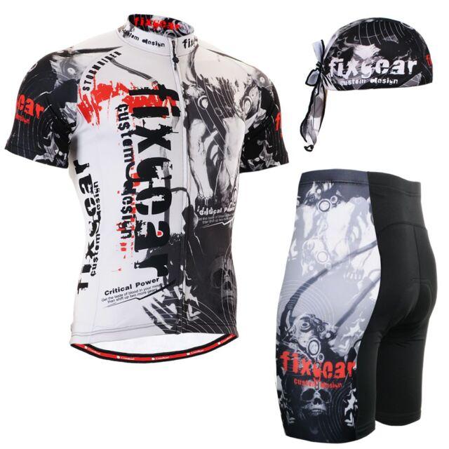 Radtrikot Set Trikot & Shorts Fahrradhose kurz fixgear cycling top MEN CS-3002