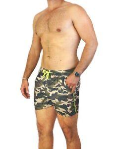Costume-da-Bagno-Uomo-Fantasia-Militare-Mimetico-Mare-Bermuda-Fluo-Cargo-Piscina