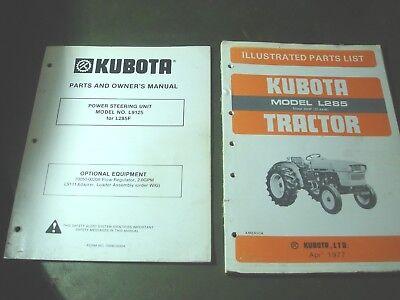 Kubota l285 tractor illustrated parts list manual book catalog ebay