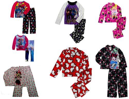 Disney Descendants Minnie Mouse Minions Hello Kitty Girls 2-Piece Pajama Set NWT