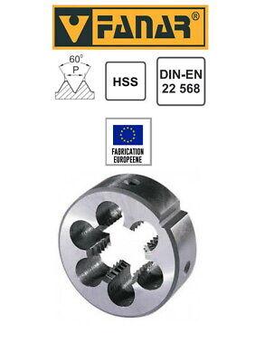 Pour cage Ø 20 mm DIN223 Filière à main HSS pas mètrique M6 x 1 mm