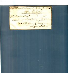 1816-Lord-Bishop-of-Cloyne-Southwall-London-Montaque-Square-Document