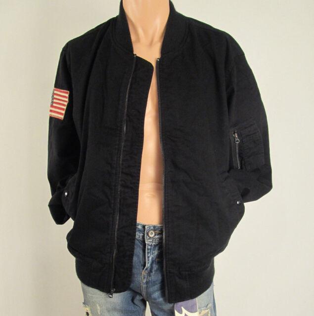 9a95b59029cf6 Men's DENIM & SUPPLY RALPH LAUREN Camo US Flag Bomber Jacket Black S, ...