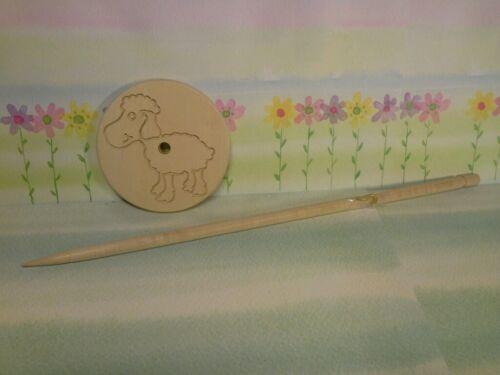 Handspindel Schaf Spindel 8x30cm nur 31g zum spinnen von Wolle Hand Spindel