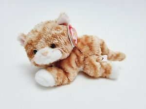 2006 Tabbles the Orange Tabby Cat Ty Beanie Baby with Hang and Tush Tags Intact