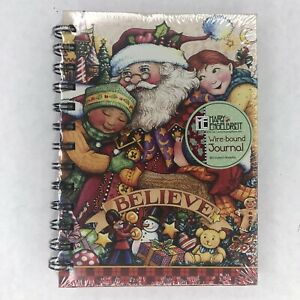 Mary-Engelbreit-Journal-Christmas-Believe-Santa-Claus-Wire-Bound-Sealed-New