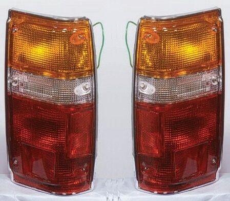 84 85 86 87 88 Toyota Pickup Taillight Assembly Pair Set Both NEW Chrome Trim