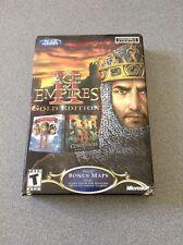 Age of Empires II Gold Edition  WIN 95/98/Me   Mini Box W/Bonus  Maps  AoE 2 NEW