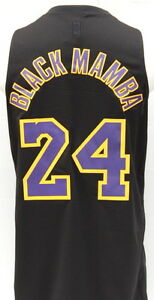 buy online 79745 0d224 Details about Kobe Bryant Black Mamba Los Angeles Lakers Black Limited  Edition Swingman Jersey