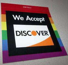 """LGBT RAINBOW WE ACCEPT DISCOVER CARD STICKER DECAL 4 1/4"""" X 4"""" FREE SHIPPING"""