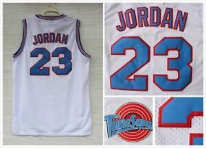 Space-Jam-Tune-Squad-Basketball-Sewn-Jersey-Michael-Jordan-23-White-Size-S-3XL