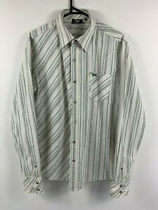 Ripcurl-Mens-Button-Up-Shirt-Long-Sleeve-Size-Large-Smart-Casual-Summer-Surf