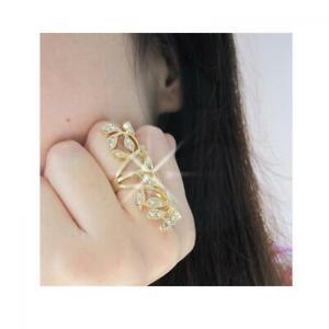 or-argent-joint-des-bijoux-les-feuilles-articulation-bague-crystal-pierre