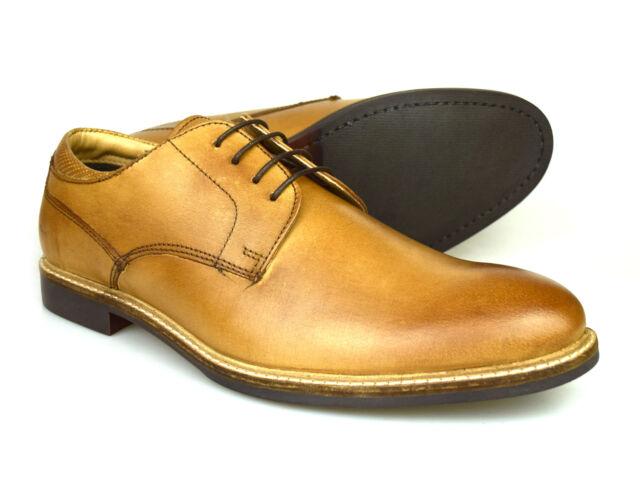 Ferracini Casual Wingtip Leather Oxford Black 7-13US Men/'s Shoes