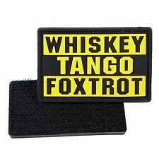 PVC Morale Patch Whiskey Tango Foxtrot WTF 3D Badge Hook #23 Paintball