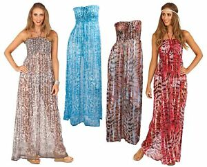 fcba4b0939927 Image is loading Womens-Maxi-Dress-Long-Chiffon-Kaftan-Beach-Holiday-