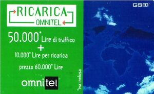 1723 SCHEDA RICARICA USATA OMNITEL 50.000 GSM SAT 30.11.1999 OCR 13 CAB 27 bWDU93Vz-09121402-294718704