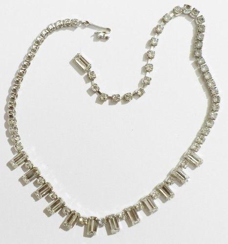 Collier ancien color silver rivière cristal diamant  brillance 3248
