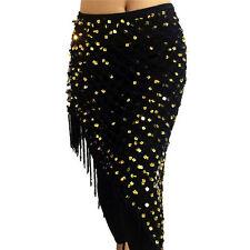 Belly Dance Costume Triangle Long Hip Scarf Belt Hand Crochet Belly Dance Hip