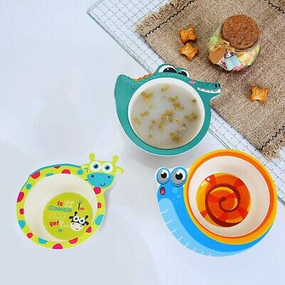Baby Safe Silicone Dining Plate Solid Cute Cartoon Children Dishes Yi