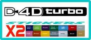 D4D-Turbo-Diesel-stickers-Toyota-Landcruiser-Prado-16-colours-Land-Cruiser