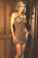 LEOPARD Print Halter MINI DRESS - O/S