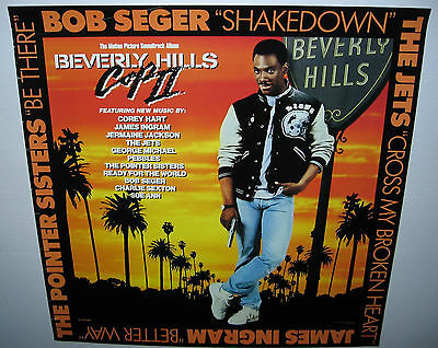 """Soundtrack: Beverly Hills Cop II (1987 US 24 x 24 """"In-Store Only"""" Promo Poster)+"""