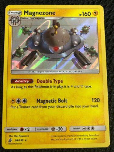 Pokemon SM UNIFIED MINDS MAGNEZONE 60//236 RARE HOLO