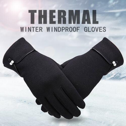 US Unisex Men Women Winter Warm Outdoor Thick Soft  Screen Fleece Gloves