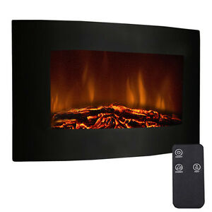 35-034-XL-Large-1500W-Adjustable-Electric-Wall-Mount-Fireplace-Heater-W-Remote-New