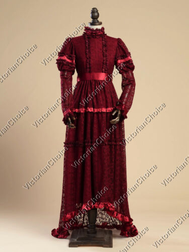 Victorian Costumes: Dresses, Saloon Girls, Southern Belle, Witch    Edwardian Downton Abbey Titanic Theater Gown Dress Reenactment Costume 353 $175.00 AT vintagedancer.com