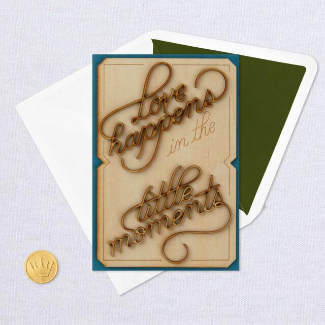 hallmark anniversary love cardsignature  3d little