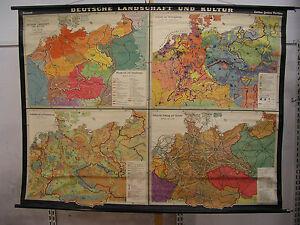 Schulwandkarte-Deutsche-Landschaft-u-Kultur-1938-Reich-212x160cm-Grossdeutschland