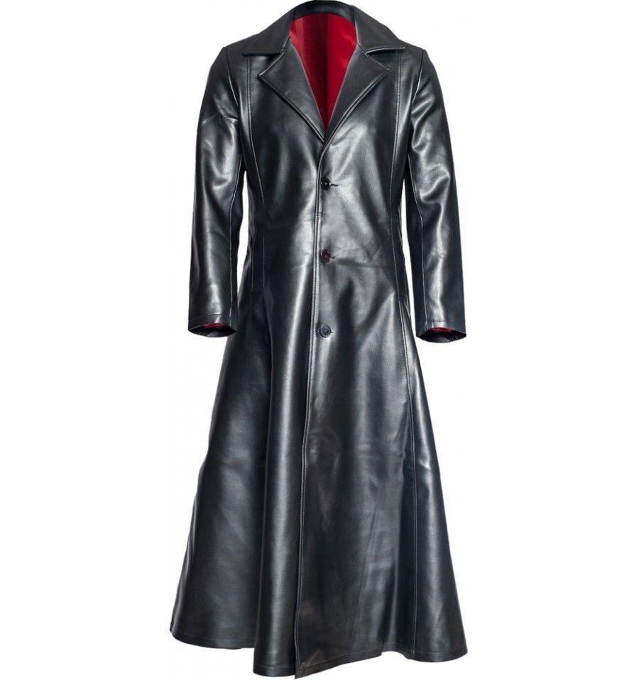 Wesley Snipes Blade Trinity Leder Long Trench Coat
